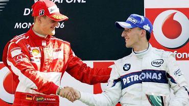 Michael Schumacher i Robert Kubica w 2006 roku