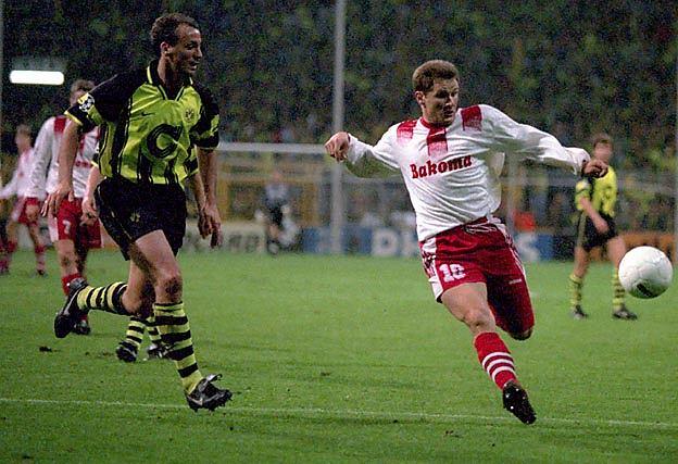 Mecz Borussia Dortmund - Widzew Łódź w 1996 roku
