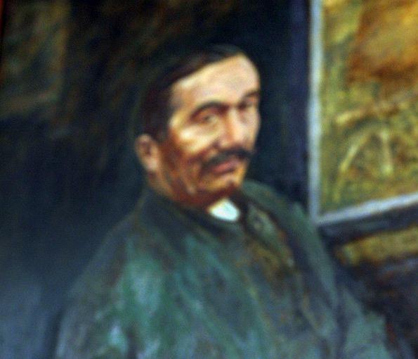 Portret Wincentego Witosa w lubelskiej siedzibie PSL