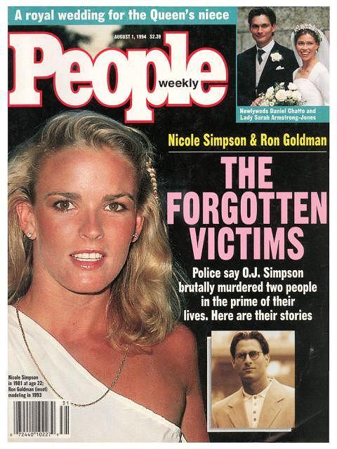 Nicole Brown Simpson oraz Ron Goldman na okładce magazynu People, który o dramatycznej historii napisał 1 sierpinia 1994 r.