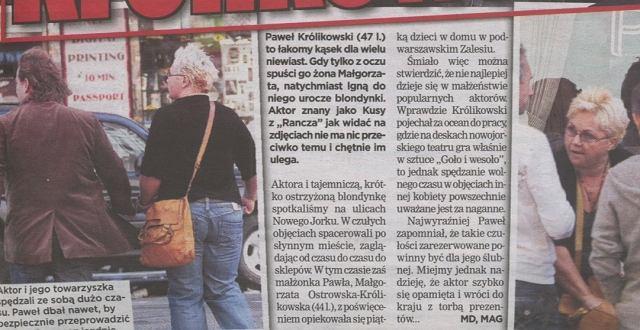 Paweł Królikowski/Super Express/15.10.2008