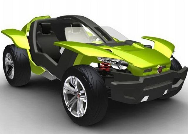 Fiat Bugster z olbrzymimi kołami doskonale będzie radził sobie na piasku