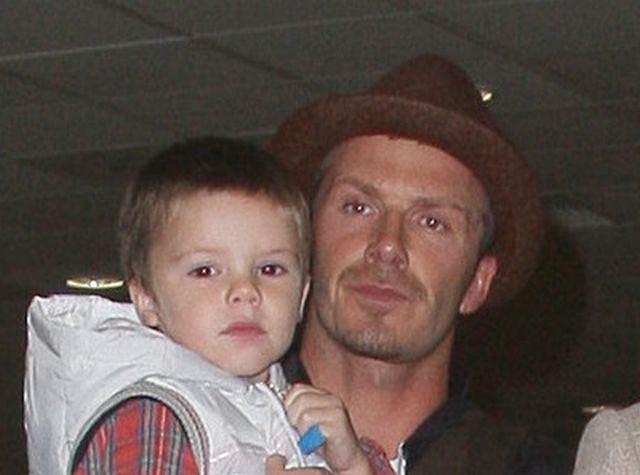David Beckham i jego syn