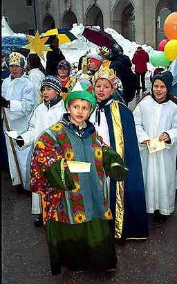 Krampusy - świta świętego Mikołaja
