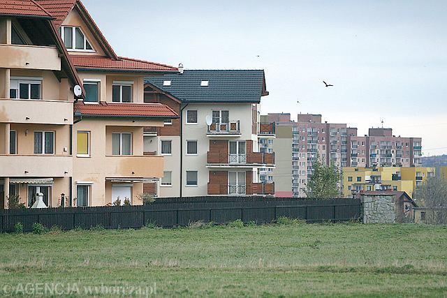 Nowe osiedla w bielskiej dzielnicy Kamienica