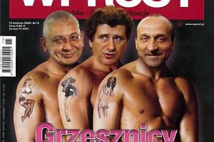 Okładka ''Wprost'', 12.04.2009