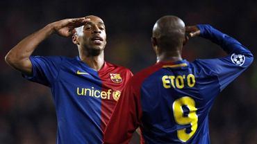 Thierry Henry (L) i Samuel Eto
