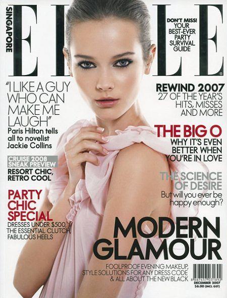 Monika Jagaciak 'JAC' na okładce magazynu Elle Singapur