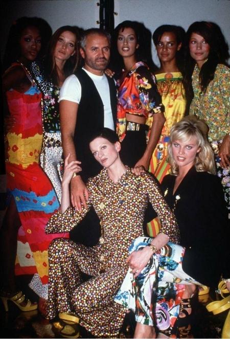 Gianni Versace i modelki 1992