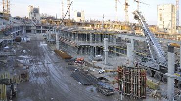 Budowa Stadionu Narodowego - 3 grudnia 2009 r.