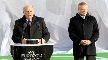 Grzegorz Lato i Hryhorij Surkis