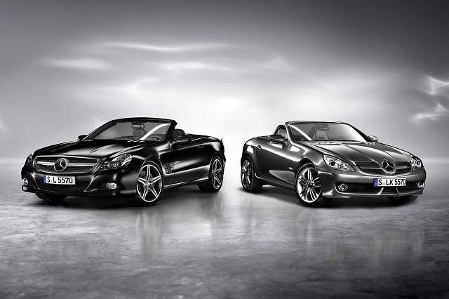 Mercedes SL Night Edition i SLK Grand Edition