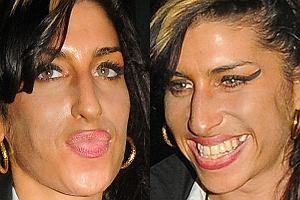 Amy Winehouse pięknieje w oczach! Wreszcie zaczęła o siebie dbać - najpierw powiększyła sobie biust, teraz prawdopodobnie to samo spotkało jej usta. Przypuszczamy także, że zainwestowała w samoopalacz. Jeszcze tylko szereg wizyt u dentysty i porządna kąpiel, a będzie ekstra! Naprawdę! ;-)