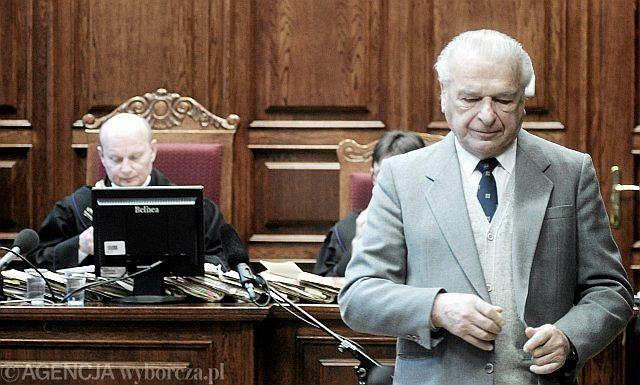 Czesław Kiszczak w sądzie