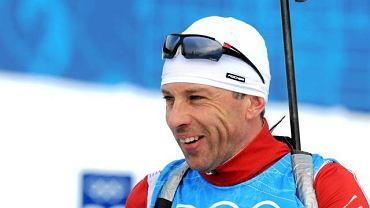 Tomasz Sikora podczas treningu na olimpijskiej trasie w Whistler