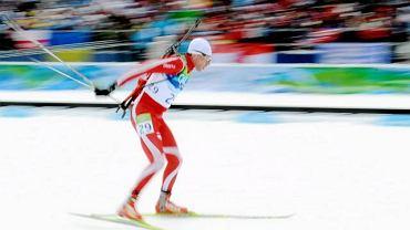 Tomasz Sikora w biegu pościgowym
