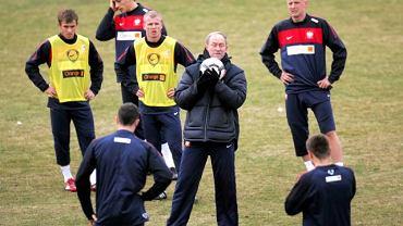 Franciszek Smuda podczas treningu reprezentacji Polski