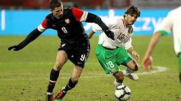 Robert Lewandowski w meczu z Bułgarią