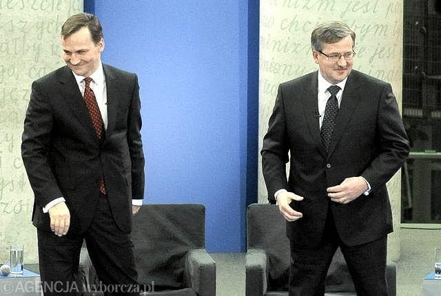 Radosław Sikorski i Bronisław Komorowski kandydaci PO do kandydatury na fotel prezydenta