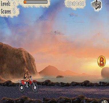 Szybka jazda na motocyklu