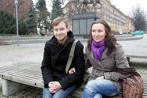 Krzysztof i Dorota na pl. Lotników w Szczecinie