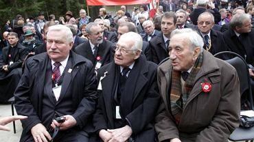 Lech Wałęsa, Andrzej Wajda i Tadeusz Mazowiecki
