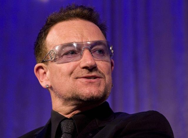 Bono, lider irlandzkiej grupy rockowej U2