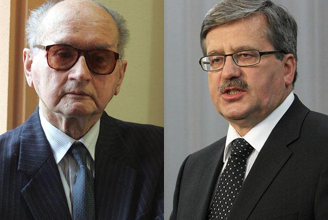 Wojciech Jaruzelski i Bronisław Komorowski
