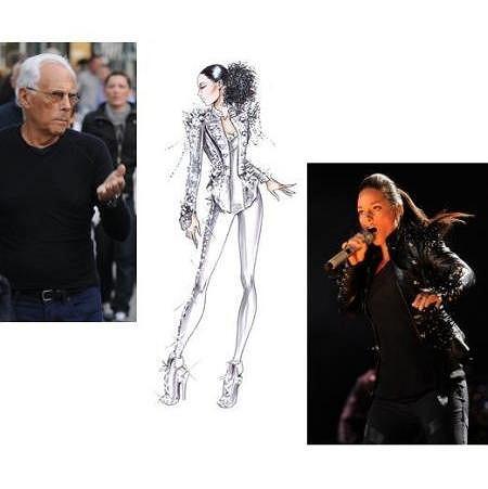 Giorgio Armani, Alicia Keys