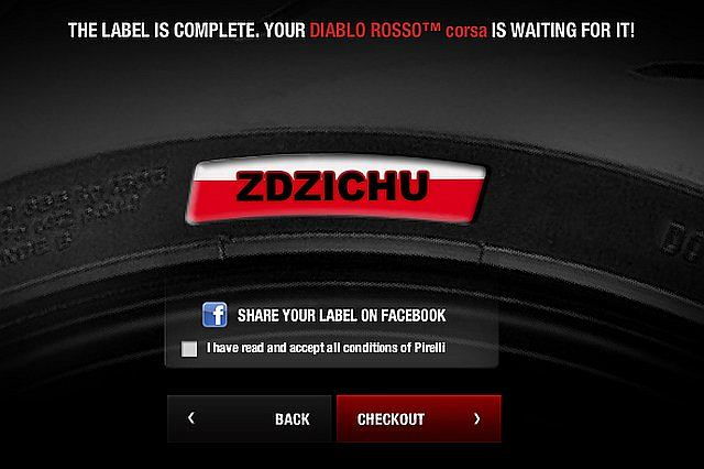 Firma Pirelli uruchomiła program personalizacji opon motocyklowych. Za niewielką dopłatą (5 funtów) każdy może z pomocą konfiguratora zaprojektować unikalny