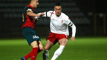 Tomasz Hajto podczas meczu z Pogonią Szczecin