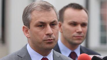 Grzegorz Napieralski i Tomasz Kalita, rzecznik SLD