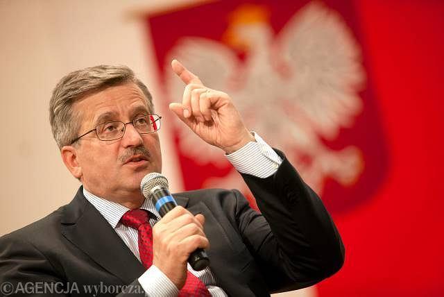 Kandydat na prezydenta Bronisław Komorowski podczas spotkania ze studentami Uniwersytetu Zielonogórskiego