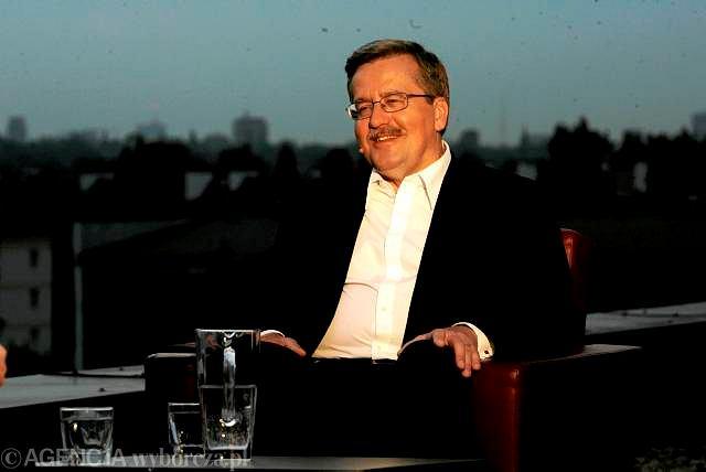 Bronisław Komorowski podczas debaty Gazeta.pl, Facebooka i