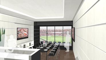 Tak ma wyglądać loża dla VIP-ów na Stadionie Narodowym