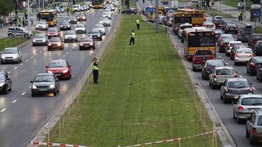 Akcja straży miejskiej w trakcie meczu przy ul. Łazienkowskiej