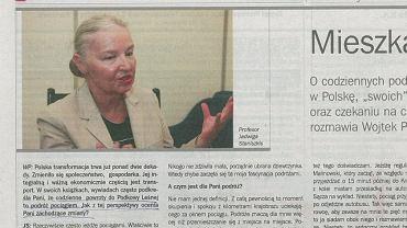 Reklama z Jadwigą Staniszkis
