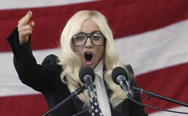 Lady Gaga w Portland - walczy o prawa gejów.