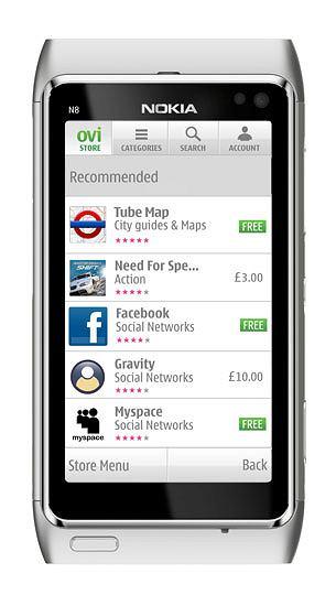 Nokia N8 z otwartym serwisem OVI.