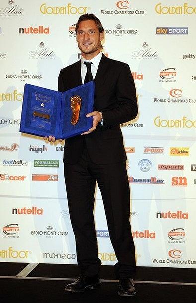 Francesco Totti uhonorowany Złotą Stopą