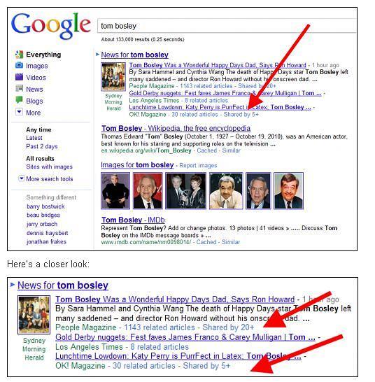 Zrzuty ekranu nowych funkcji testowanych przez Google