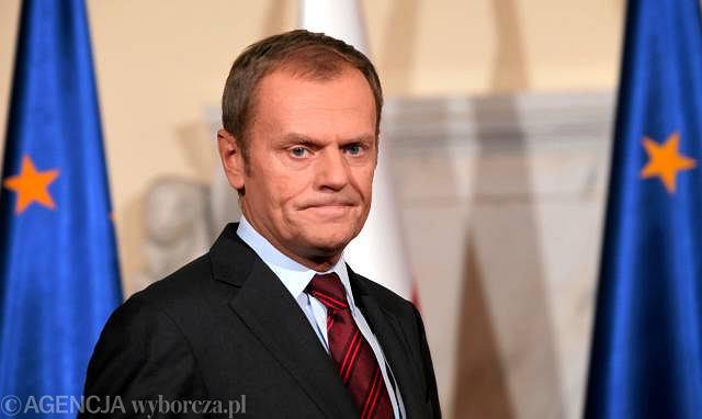 Premier Donald Tusk podczas oświadczenia po zajściach w Łodzi