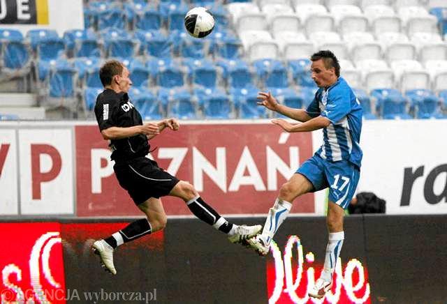 2010 rok: Lech Poznań - Cracovia 5:0 (z prawej Sławomir Peszko)