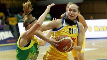 Daria Mieloszyńska (z piłką)