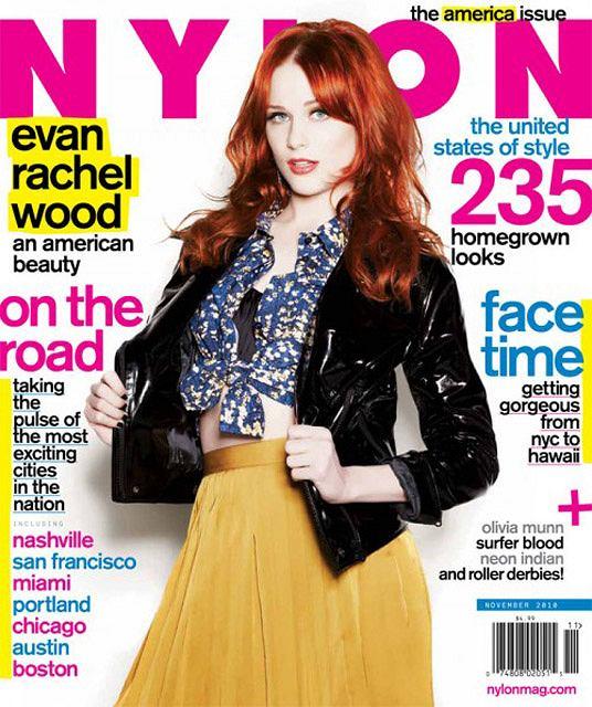 Evan Rachel Wood w listopadowym numerze Nylon