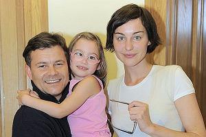Maja Hirsch i Jacek Braciak z córeczką Marysią