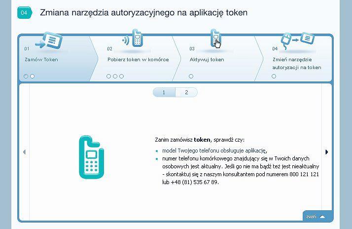 Inteligo wprowadza autoryzację za pomocą tokena.