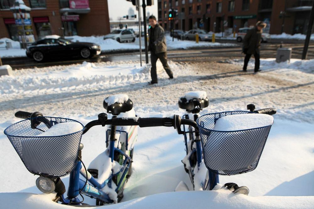 Zima na rowerze, Kraków
