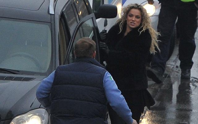 Joanna Liszowska miała drobną stłuczkę około godz. 10.30 przy ul. Rzymowskiego w Warszawie.
