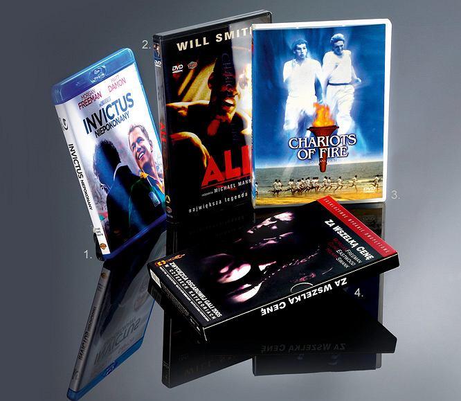 1. Niepokonany Cena: 92,99 zł (Blu-ray), 50,99?zł (DVD)2. Ali Cena: 19,99 zł (DVD)3. Rydwany ognia Cena: 24,99 zł (DVD)4. Za wszelką cenę Cena: 25 zł (DVD)